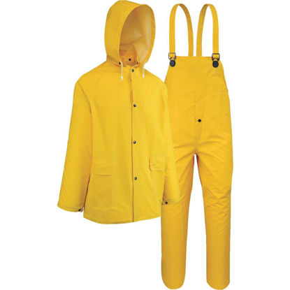 Picture of West Chester 2XL 3-Piece Yellow PVC Rain Suit