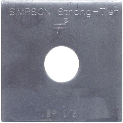Picture of Simpson Strong-Tie 1/2 in. x 2 in. x 3/16 in. Steel Uncoated Bearing Plate