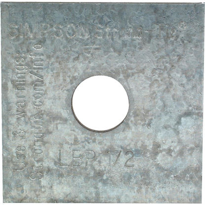 Picture of Simpson Strong-Tie 1/2 in. x 2 in. x 9/64 in. Steel Galvanized Bearing Plate