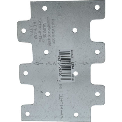 Picture of Simpson Strong-Tie 3 in. W x 4 1/4 in. L. Galvanized Steel 20 Gauge Tie Plate