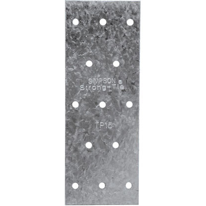 Picture of Simpson Strong-Tie 1-3/16 in. W. x 5 in. L. Galvanized Stee l 20 Gauge Tie Plate