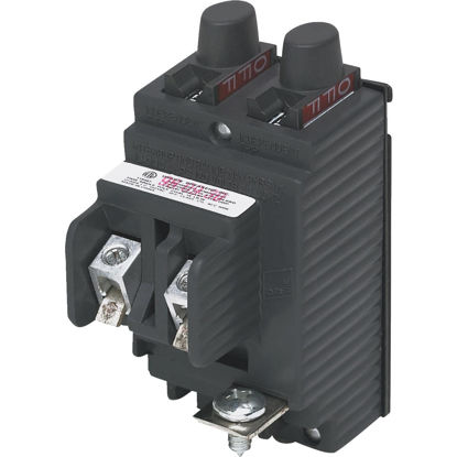 Picture of Connecticut Electric 15A/15A Twin Single-Pole Standard Trip Packaged Replacement Circuit Breaker For Pushmatic