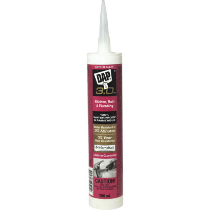 Picture of DAP 3.0 9 Oz. Crystal Clear Kitchen, Bath & Plumbing Caulk