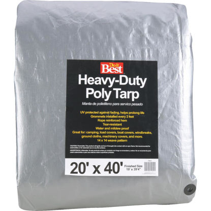 Picture of Do it Best Silver Woven 20 Ft. x 40 Ft. Heavy Duty Poly Tarp