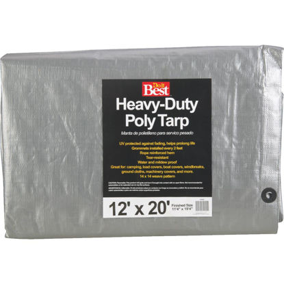Picture of Do it Best Silver Woven 12 Ft. x 20 Ft. Heavy Duty Poly Tarp