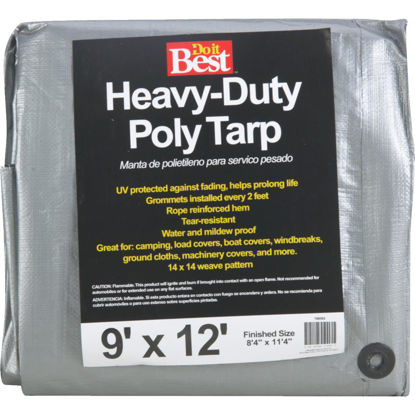 Picture of Do it Best Silver Woven 9 Ft. x 12 Ft. Heavy Duty Poly Tarp