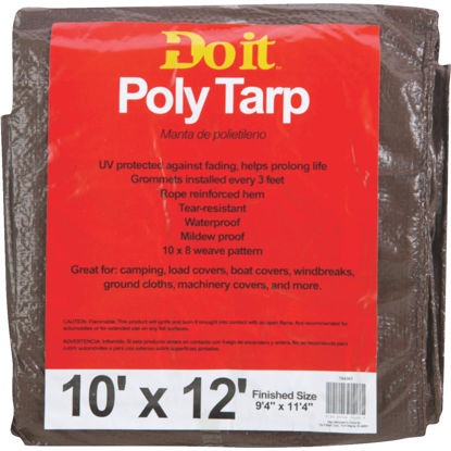 Picture of Do it Green/Brown Woven 10 Ft. x 12 Ft. Medium Duty Poly Tarp