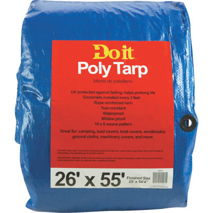 Picture of Do it Blue Woven 26 Ft. x 55 Ft. Medium Duty Poly Tarp