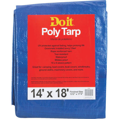 Picture of Do it Blue Woven 14 Ft. x 18 Ft. Medium Duty Poly Tarp