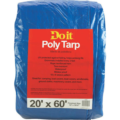 Picture of Do it Blue Woven 20 Ft. x 60 Ft. Medium Duty Poly Tarp