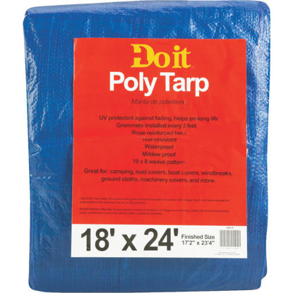 Picture of Do it Blue Woven 18 Ft. x 24 Ft. Medium Duty Poly Tarp