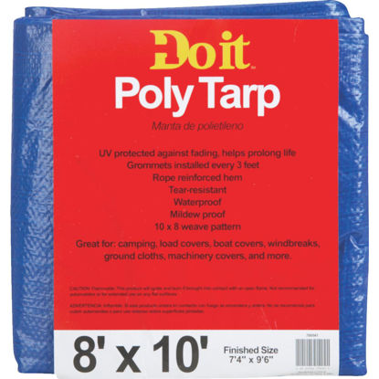 Picture of Do it Blue Woven 8 Ft. x 10 Ft. Medium Duty Poly Tarp