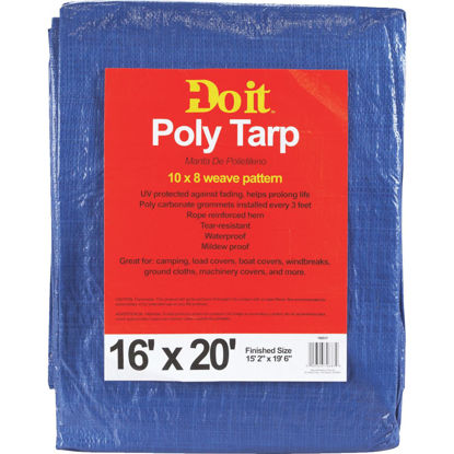Picture of Do it 16 Ft x 20 Ft Blue Medium Duty Tarp