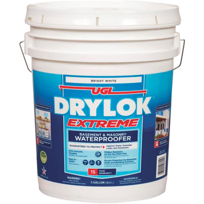 Picture of Drylok White Basement & Masonry Waterproofer Concrete Sealer, 5 Gal.
