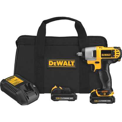 Picture of DeWalt 12 Volt MAX Lithium-Ion 3/8 In. Cordless Impact Wrench Kit