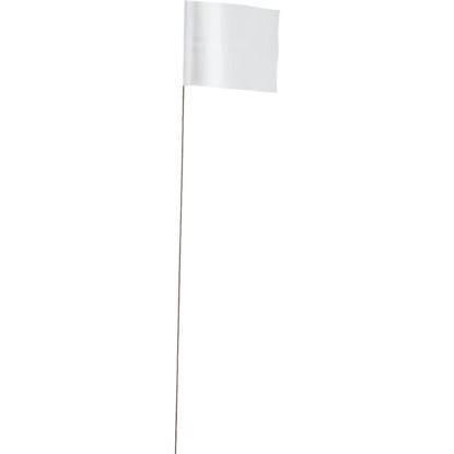Picture of Empire 21 In. Steel Staff White Marking Flags