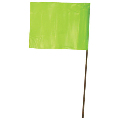Picture of Empire 21 In. Steel Staff Lime Marking Flags