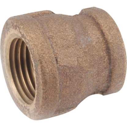 Picture of Anderson Metals 1 In. x 1/2 In. Threaded Reducing Brass Coupling