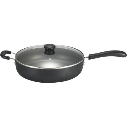 Picture of T-Fal 12 In. Black Aluminum Non-Stick Fry Pan with Lid