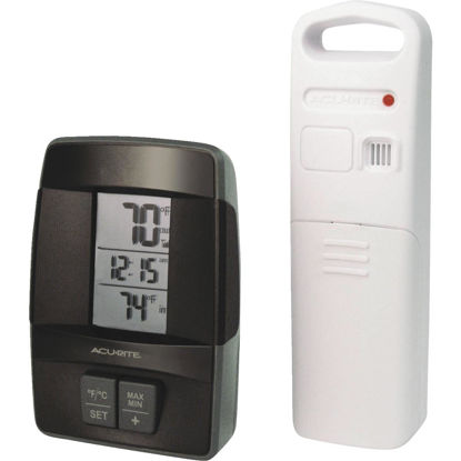 "Picture of Acurite 1.6"" W x 4.8"" H Sensor Wireless Indoor & Outdoor Thermometer"