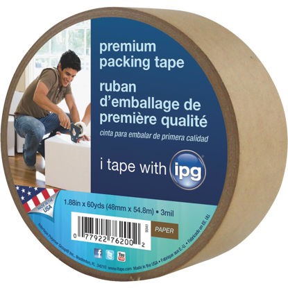 Picture of IPG 1.88 In. X 60 Yd. Kraft Sealing Tape
