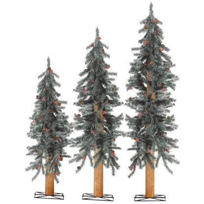 Picture of Sterling 2 Ft./3 Ft./4 Ft. Alpine Unlit Artificial Christmas Tree Set