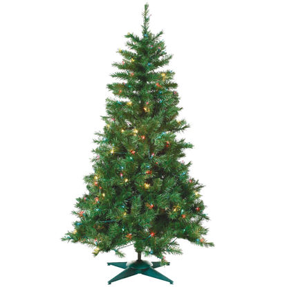 Picture of Sterling 4 Ft. Colorado Spruce 150-Bulb Multi Incandescent Prelit Artificial Christmas Tree
