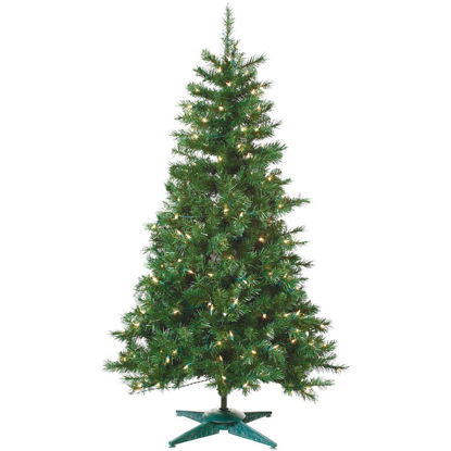 Picture of Sterling 4 Ft. Colorado Spruce 150-Bulb Clear Incandescent Prelit Artificial Christmas Tree