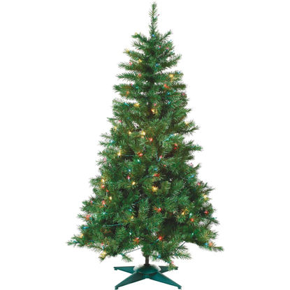 Picture of Sterling 3 Ft. Colorado Spruce 100-Bulb Multi Incandescent Prelit Artificial Christmas Tree