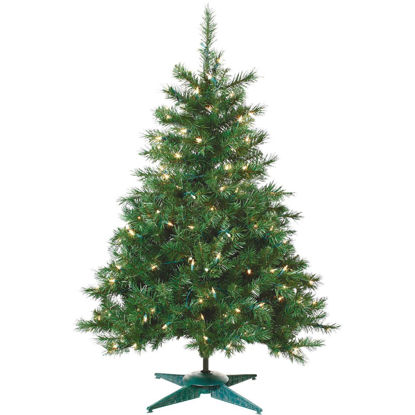 Picture of Sterling 2 Ft. Colorado Spruce 50-Bulb Clear Incandescent Prelit Artificial Christmas Tree