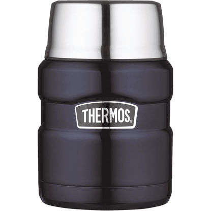 Picture of Thermos Stainless King 16 Oz. Midnight Blue Stainless Steel Thermal Food Jar