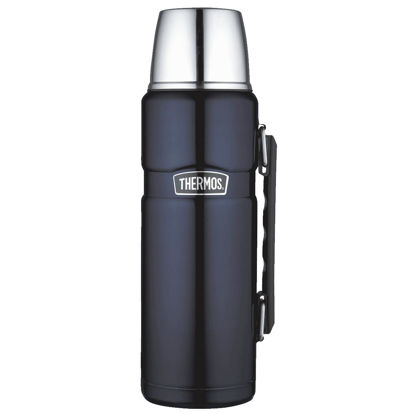Picture of Thermos Stainless King 40 Oz. Midnight Blue Stainless Steel Insulated Vacuum Bottle with Handle
