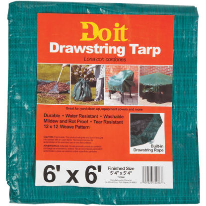 Picture of Do it 6 Ft. x 6 Ft. Poly Fabric Green Lawn Cleanup Tarp