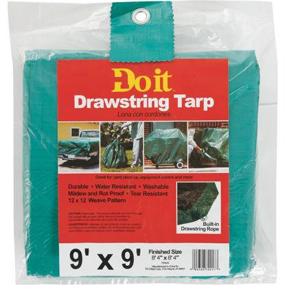 Picture of Do it 9 Ft. x 9 Ft. Poly Fabric Green Lawn Cleanup Tarp