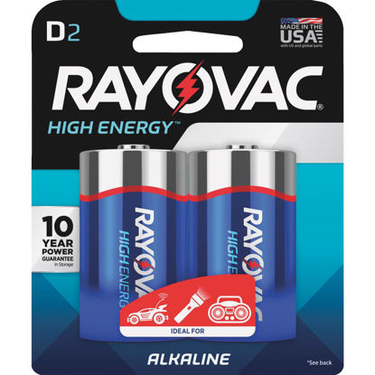 Picture of Rayovac High Energy D Alkaline Battery (2-Pack)