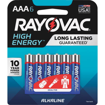 Picture of Rayovac High Energy AAA Alkaline Battery (6-Pack)