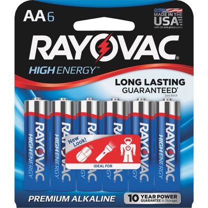 Picture of Rayovac High Energy AA Alkaline Battery (6-Pack)