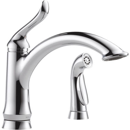 Picture of Delta Linden Single Handle Lever Kitchen Faucet with Side Spray, Chrome