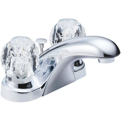 Picture of Delta Foundations Chrome 2-Handle Knob 4 In. Centerset Bathroom Faucet with Pop-Up