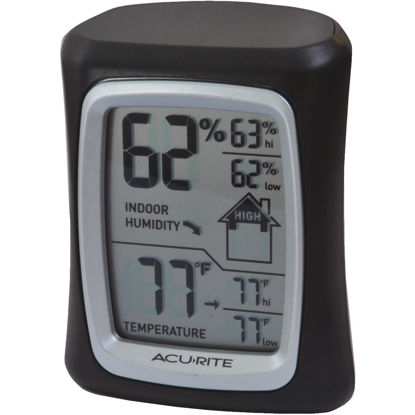 Picture of Acurite Fahrenheit & Celsius Digital 32 to 122 F, 0 to 50 C Hygrometer & Thermometer