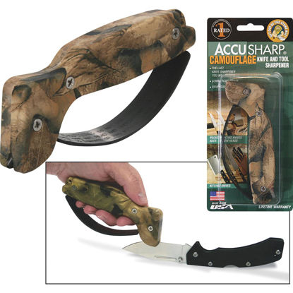 Picture of AccuSharp Groove Diamond-Honed Carbide Blade Camouflage Knife & Tool Sharpener
