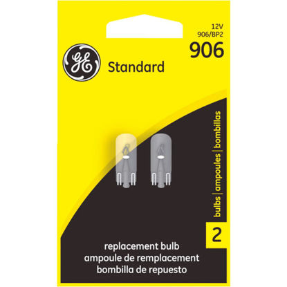 Picture of GE 12V 906 Miniature Incandescent Automotive Bulb (2-Pack)