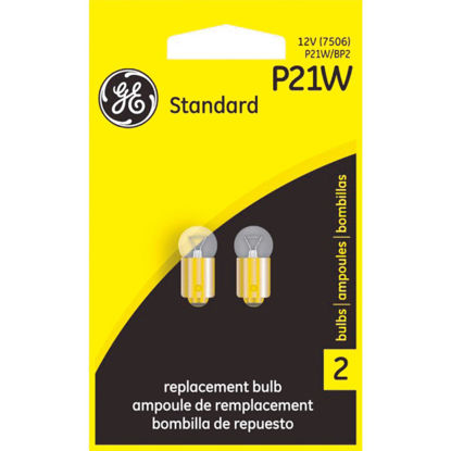 Picture of GE 12V P21W Miniature Incandescent Automotive Bulb (2-Pack)