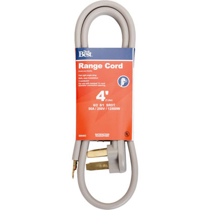 Picture of Do it Best 4 Ft. 6/2 + 8/1 Ga. 3-Conductor Range Cord
