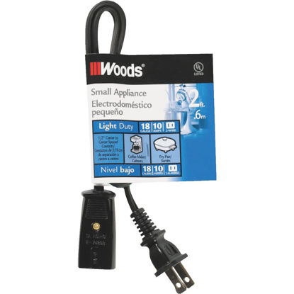 Picture of Woods 2 Ft. 18/2 10A Mini Plug Appliance Cord