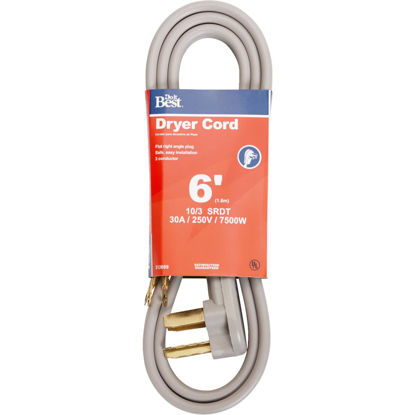 Picture of Do it Best 6 Ft. 10/3 30A Dryer Cord