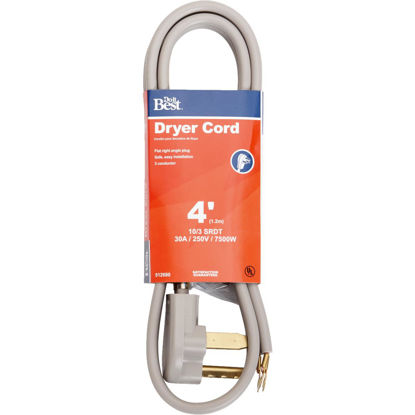 Picture of Do it Best 4 Ft. 10/3 30A Dryer Cord