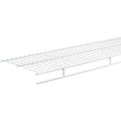 Picture of ClosetMaid 4 Ft. W. x 12 In. D. Ventilated Wire Shelf & Rod, White