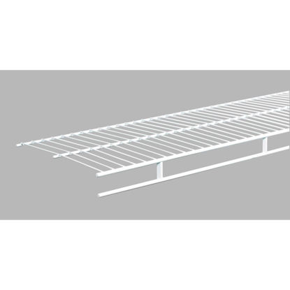 Picture of ClosetMaid 6 Ft. W. x 12 In. D. Ventilated Wire Shelf & Rod, White