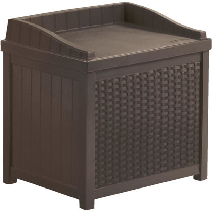 Picture of Suncast Java Resin Wicker Storage Bench